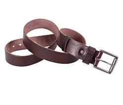 Мужской кожаный ремень Dovhani BUFF000-1115 115-130 см Коричневый, фото 2