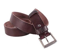 Мужской кожаный ремень Dovhani BUFF000-1115 115-130 см Коричневый, фото 3