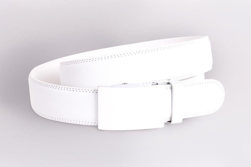 Мужской кожаный ремень Dovhani 23072323 115-130 см Белый