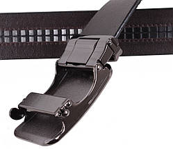 Мужской кожаный ремень Dovhani MGA101-115 105-125 см Коричневый, фото 3