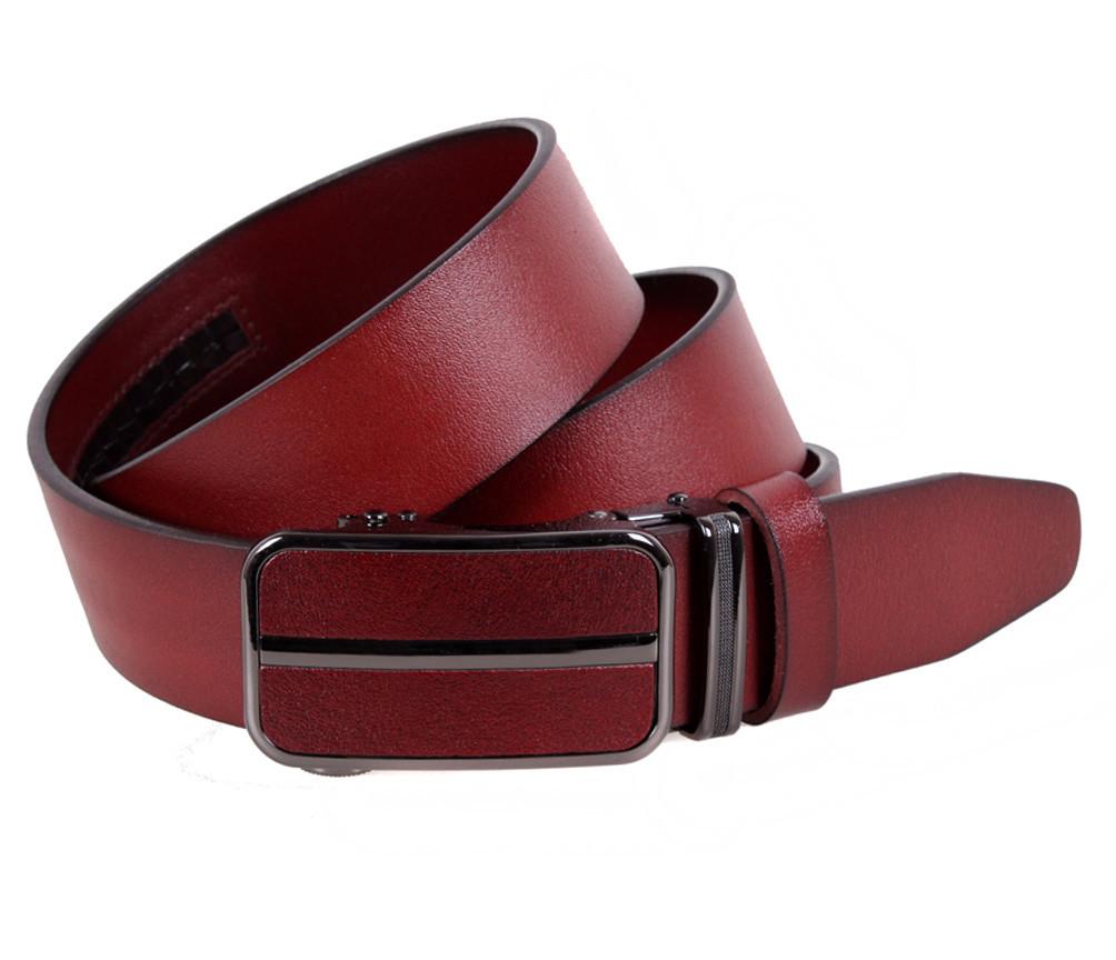 Мужской кожаный ремень Dovhani MGA101-336 105-125 см Бордовый