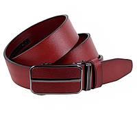 Мужской кожаный ремень Dovhani MGA101-336 105-125 см Бордовый, фото 1