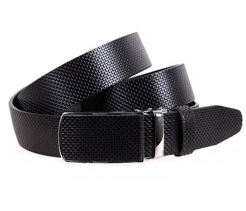 Мужской кожаный ремень Dovhani MGA101-1106 105-125 см Черный, фото 2