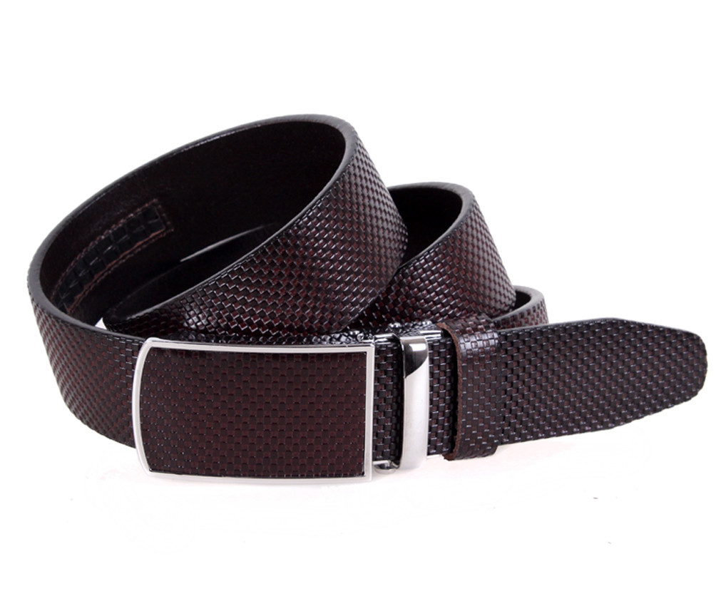 Мужской кожаный ремень Dovhani MGA101-1254 105-125 см Коричневый