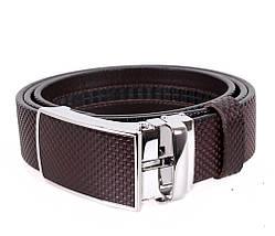 Мужской кожаный ремень Dovhani MGA101-1254 105-125 см Коричневый, фото 2