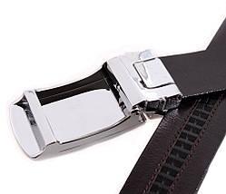 Мужской кожаный ремень Dovhani MGA101-1254 105-125 см Коричневый, фото 3