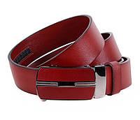 Мужской кожаный ремень Dovhani MGA101-1444 105-125 см Бордовый, фото 1