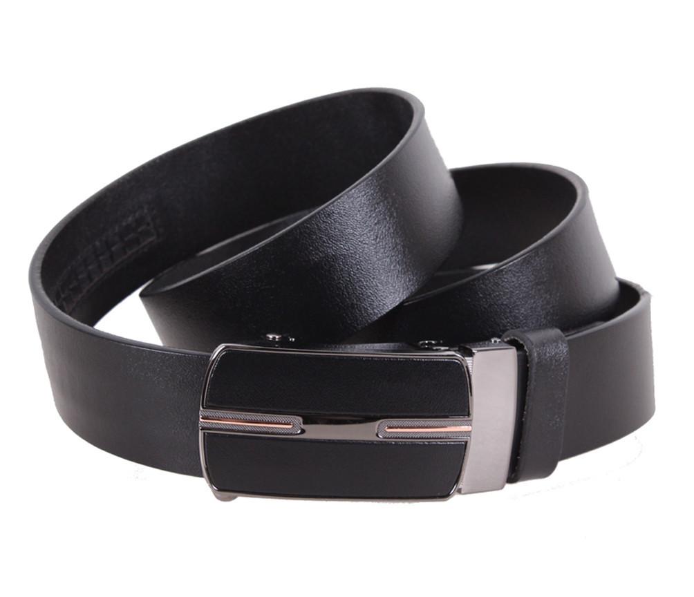 Мужской кожаный ремень Dovhani MGA101-1616 105-125 см Черный, фото 1