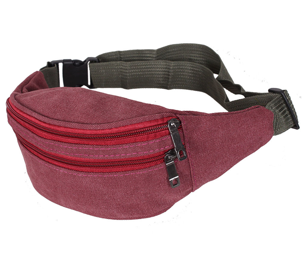 Сумка текстильная на пояс Dovhani Q001-88DRED Красная