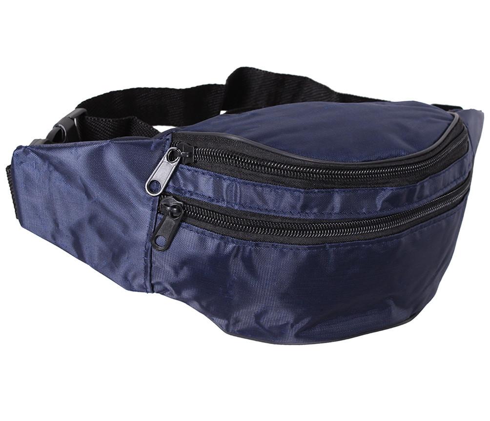 Сумка текстильная на пояс Dovhani Q00850-1DBLUE Синяя