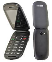 Телефон раскладушка Maxcom MM818  2 сим,2,4 дюйма,0,3 Мп,750 мА\ч.