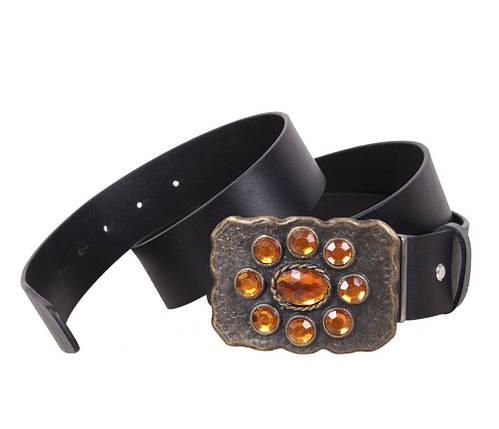 Женский кожаный ремень Dovhani QS2203-1212 115-125 см Черный, фото 2