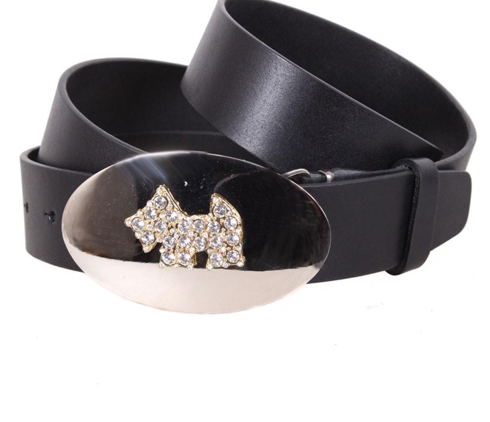 Женский кожаный ремень Dovhani QS2203-2222 115-125 см Черный