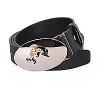 Женский кожаный ремень Dovhani QS2203-6668 115-125 см Черный