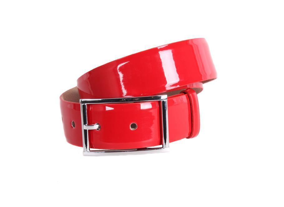 Женский кожаный ремень Dovhani red1001 115-125 см Красный