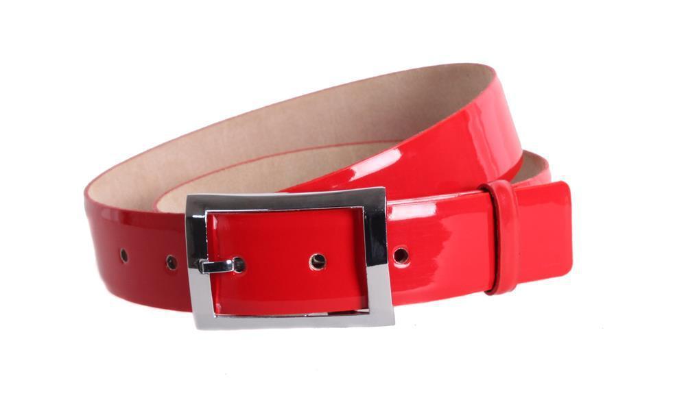 Женский кожаный ремень Dovhani red10111 115-125 см Красный