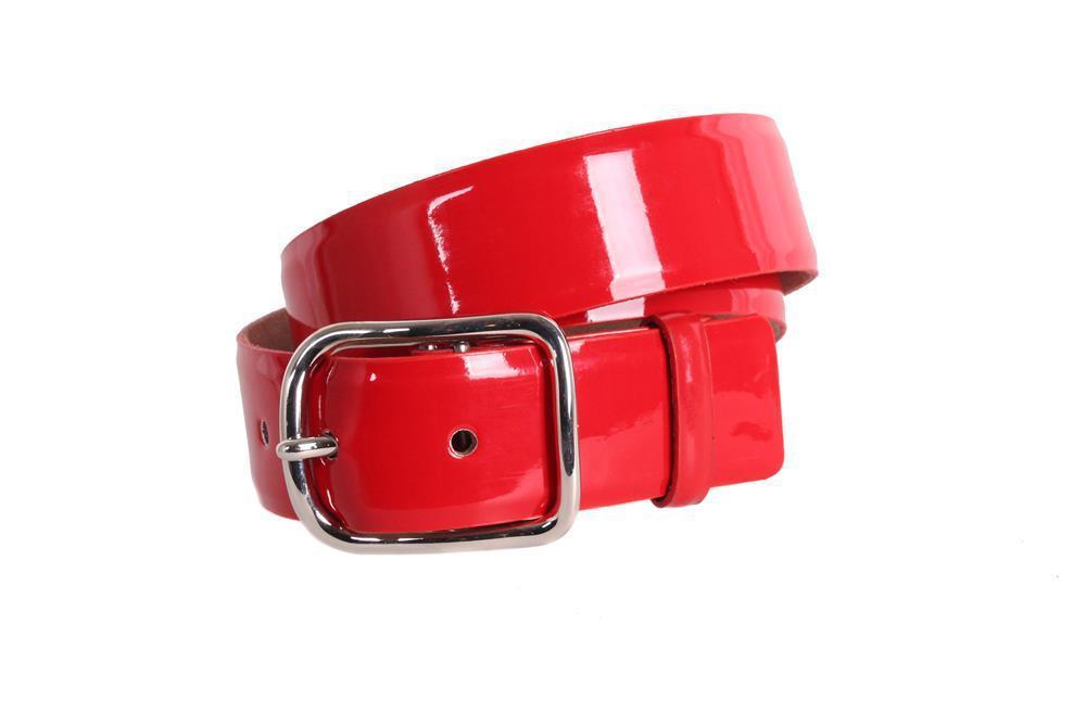 Женский кожаный ремень Dovhani red10404 115-125 см Красный