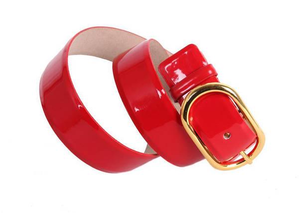 Женский кожаный ремень Dovhani red10606 115-125 см Красный, фото 2