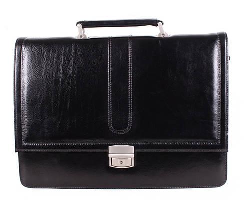 Портфель кожаный мужской Dovhani BL-35020 Черный, фото 2
