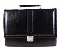 Портфель кожаный мужской Dovhani BL-35020 Черный, фото 1