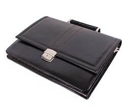 Портфель кожаный мужской Dovhani BL-35020 Черный, фото 3