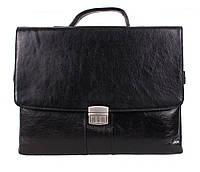 Портфель кожаный мужской Dovhani BL-353737 Черный