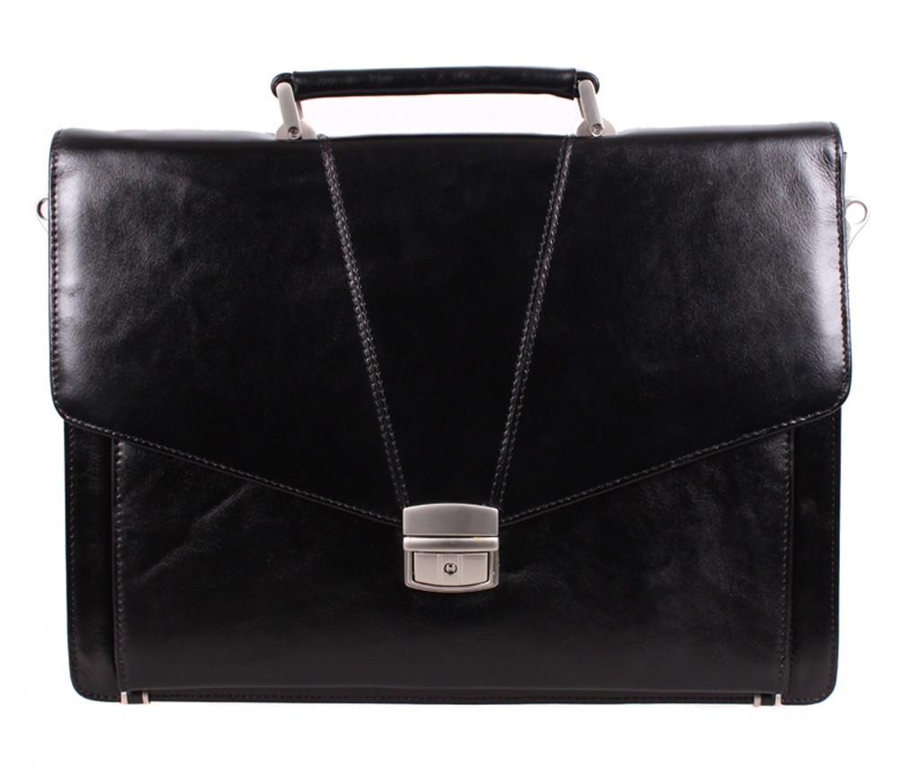 Портфель кожаный мужской Dovhani BL-348386 Черный