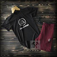 Шорты+Футболка Linkin Park черно-бордового цвета