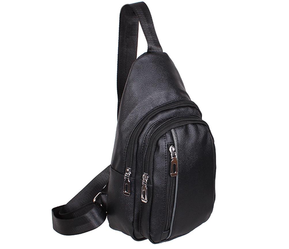 Сумка мини-рюкзак мужская Dovhani IT101919Black Черная