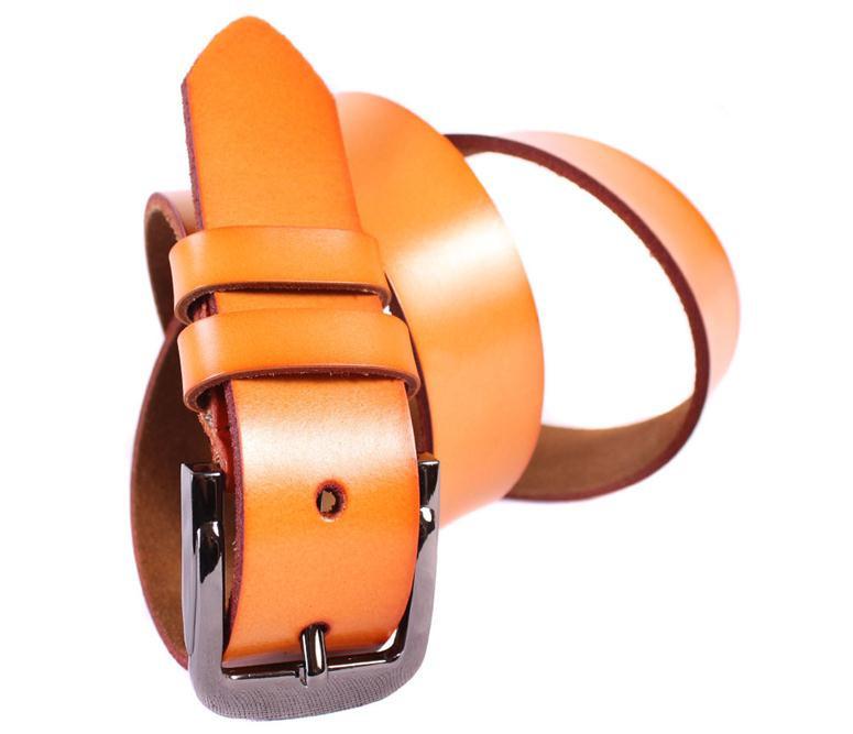 Мужской кожаный ремень Dovhani MX3011077 115-125 см Рыжий