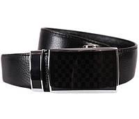 Мужской кожаный ремень Dovhani MX30114141 115-125 см Черный, фото 1