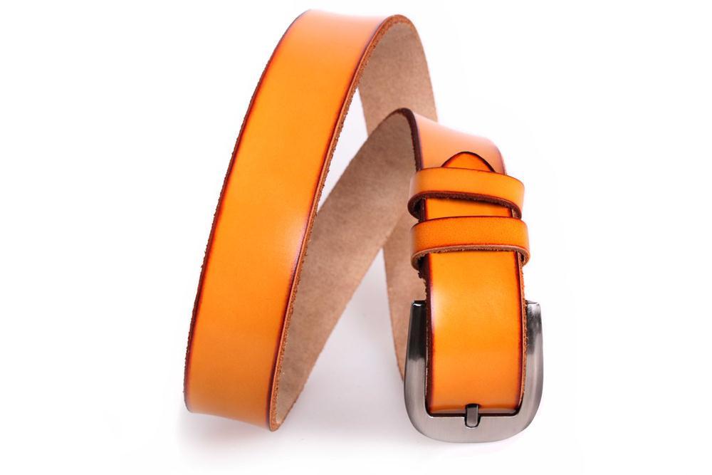 Мужской кожаный ремень Dovhani MX30743888 115-125 см Рыжий