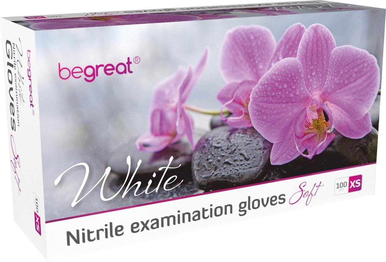 Рукавички нітрилові Fiomex White, premium - 100 шт/уп, XS