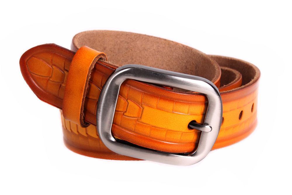 Мужской кожаный ремень Dovhani MX30533030 115-125 см Коричневый