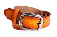 Мужской кожаный ремень Dovhani MX30533030 115-125 см Коричневый, фото 1