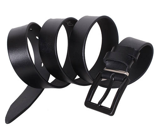 Мужской кожаный ремень Dovhani L403-19988 115-125 см Черный, фото 2