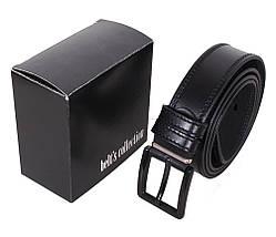 Мужской кожаный ремень Dovhani L408-19915 115-125 см Черный, фото 3