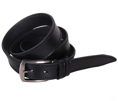 Мужской кожаный ремень Dovhani L409-199458 115-125 см Черный, фото 2