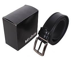 Мужской кожаный ремень Dovhani L409-199458 115-125 см Черный, фото 3
