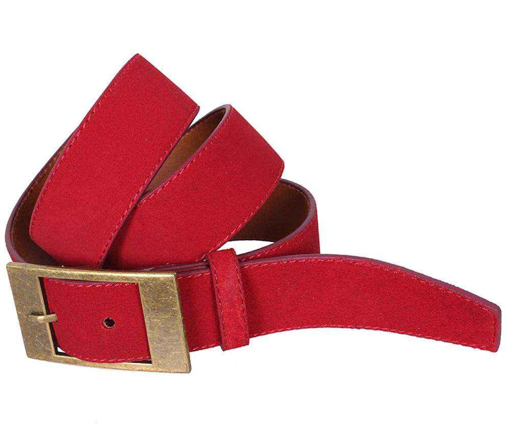 Мужской замшевый ремень Dovhani Z506-1994545 115-125 см Красный