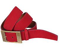 Мужской замшевый ремень Dovhani Z506-1994545 115-125 см Красный, фото 1