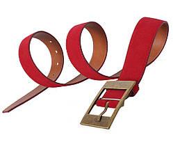 Мужской замшевый ремень Dovhani Z506-1994545 115-125 см Красный, фото 2