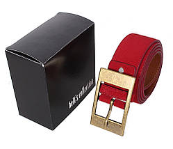 Мужской замшевый ремень Dovhani Z506-1994545 115-125 см Красный, фото 3