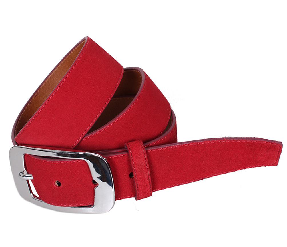 Мужской замшевый ремень Dovhani Z507-199321 115-125 см Красный