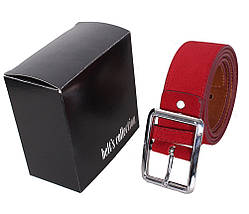 Мужской замшевый ремень Dovhani Z509-199159 115-125 см Красный, фото 3