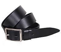 Мужской кожаный ремень Dovhani LL31-193369 115-125 см Черный, фото 1