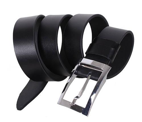 Мужской кожаный ремень Dovhani LL40-193002 115-125 см Черный, фото 2