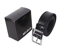 Мужской кожаный ремень Dovhani LP602-199 115-125 см Черный, фото 3