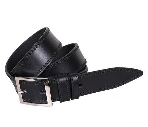 Мужской кожаный ремень Dovhani LP609-19916 115-125 см Черный, фото 2