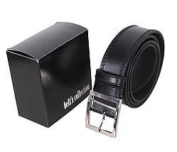 Мужской кожаный ремень Dovhani LP609-19916 115-125 см Черный, фото 3